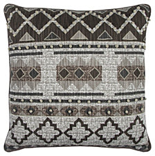 "Rizzy Home Textured 20"" x 20"" Geometric Design Pillow Poly Filled"