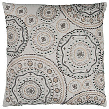 """Rizzy Home 20"""" x 20"""" Geometrical Design Poly Filled Pillow"""