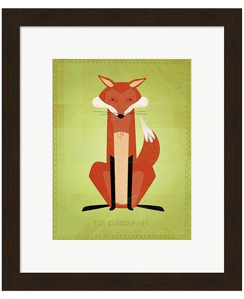 Metaverse The Crooked Fox by John W. Golden Framed Art