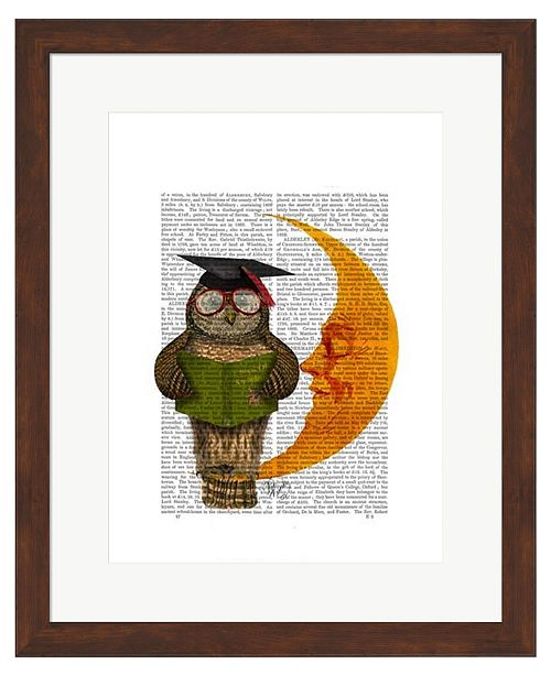 Metaverse Owl On The Moon by Fab Funky Framed Art