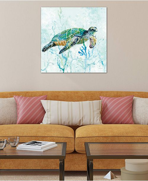 "iCanvas ""Sea Turtle Swim I"" by Carol Robinson Gallery-Wrapped Canvas Print"
