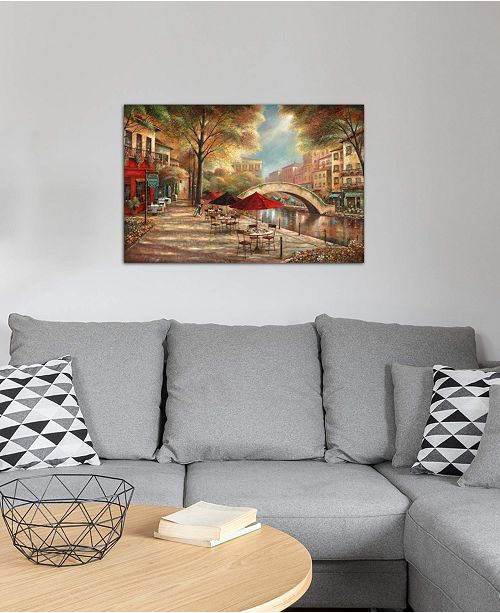 """iCanvas """"Riverwalk Charm"""" by Ruane Manning Gallery-Wrapped Canvas Print"""