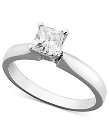 Princess-Cut Diamond Solitaire Engagement Ring in 14k White Gold (5/8 ct. t.w.)
