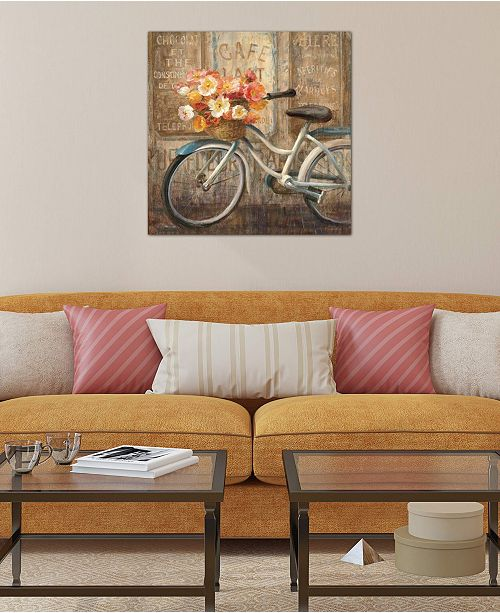 """iCanvas """"Meet Me at Le Cafe II"""" by Danhui Nai Gallery-Wrapped Canvas Print (26 x 26 x 0.75)"""