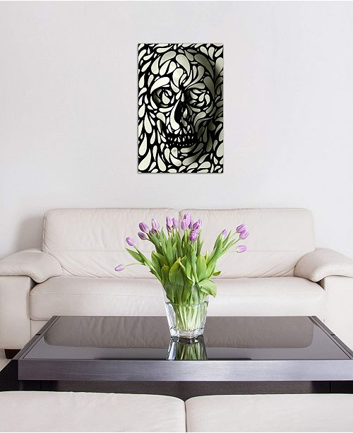 """iCanvas """"Skull #4"""" by Ali Gulec Gallery-Wrapped Canvas Print (40 x 26 x 0.75)"""