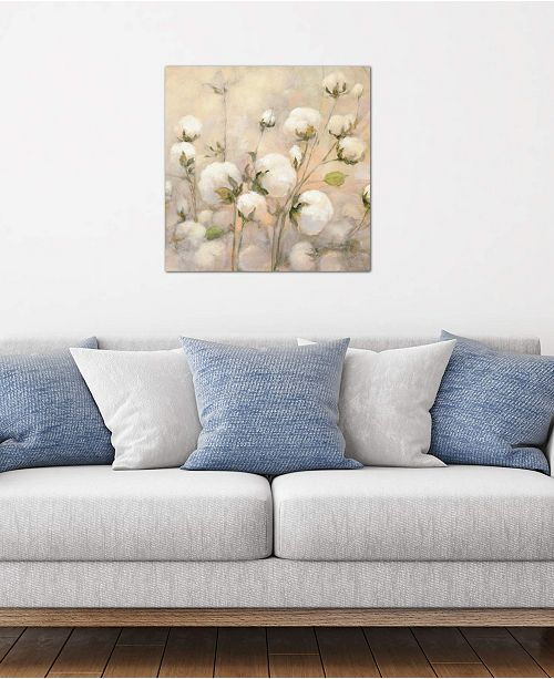 """iCanvas """"Cotton Field, Close Up"""" by Julia Purinton Gallery-Wrapped Canvas Print (26 x 26 x 0.75)"""