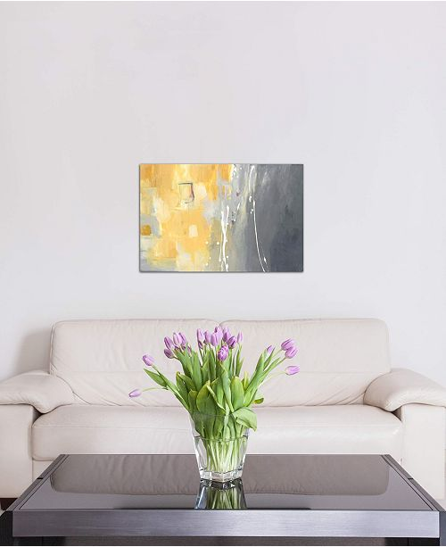 """iCanvas """"50 Shades Of Gray And Yellow"""" by Julie Ahmad Gallery-Wrapped Canvas Print (26 x 40 x 0.75)"""