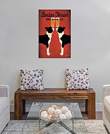 """""""Boston Terrier Brewing Co. """" by Ryan Fowler Gallery-Wrapped Canvas Print (40 x 26 x 0.75)"""