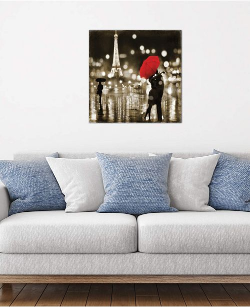 "iCanvas ""A Paris Kiss"" by Kate Carrigan Gallery-Wrapped Canvas Print (18 x 18 x 0.75)"