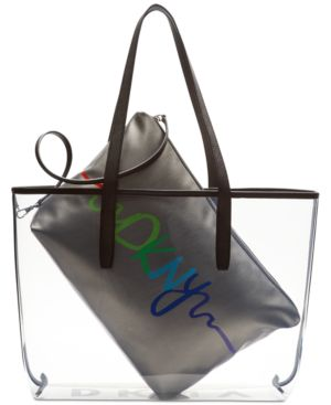 Image of Dkny Brayden Transparent Tote, Created for Macy's