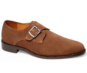 Image of 1972 Single Monk Strap Suede Men's Shoes