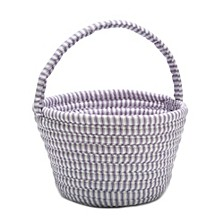 Easter Ticking Braided Basket