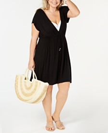 Dotti Plus Size Hoodie Drawstring Cover-Up