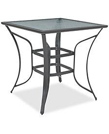 Reyna Aluminum Outdoor Bar Table, Created For Macy's