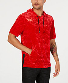 I.N.C. Men's Short-Sleeve Velvet Hoodie, Created for Macy's