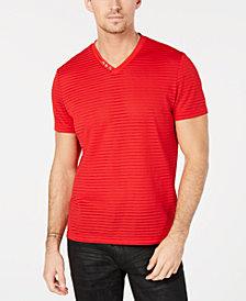 I.N.C. Men's V-Neck Sheer Striped T-Shirt, Created for Macy's