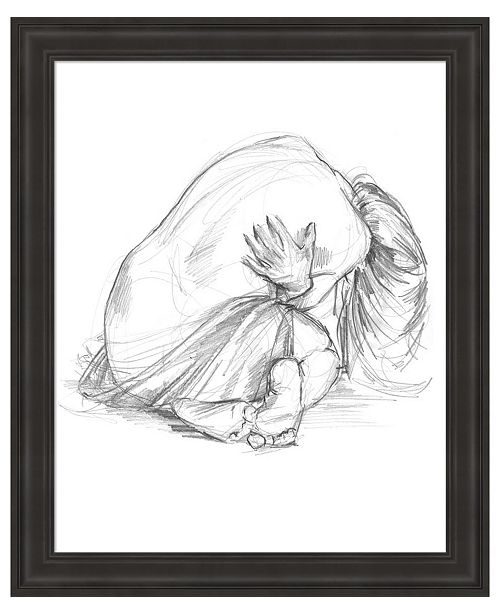 Metaverse Sitting Pose III by Jennifer Parker Framed Art