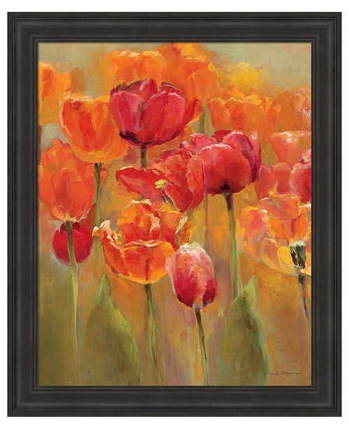 Metaverse Tulips in the Midst I by Marilyn Hageman Framed Art