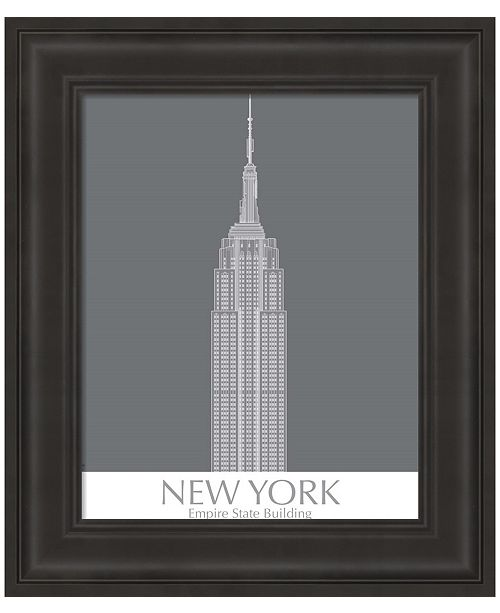 Metaverse New York Empire State Building Monochrome by Fab Funky Framed Art