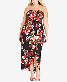 City Chic Plus Size Valentina Strapless Dress