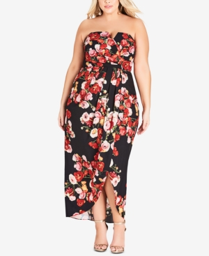 City Chic Dresses PLUS SIZE VALENTINA STRAPLESS DRESS