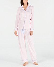 Charter Club Notch-Collar Top & Pajama Pants Sleep Separates, Created for Macy's