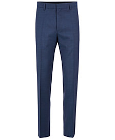 BOSS Men's Slim-Fit Virgin Wool Trousers