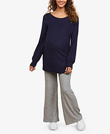 Rib Knit Pants with Secret Fit Belly
