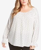 95b59634159 Karen Kane Plus Size Star-Print Top