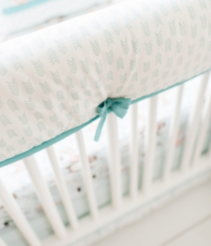 Forest Friends Crib Rail Cover Bedding