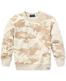 Polo Ralph Lauren Toddler Boys Camo Twill Terry Sweatshirt