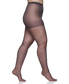 Women's  Queen Plus Size Ultra Sheer Sandalfoot Pantyhose 4413