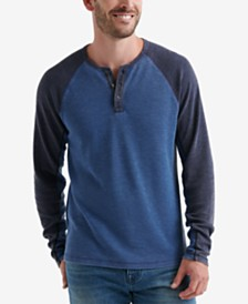 Lucky Brand Mens Thermal Raglan Shirt