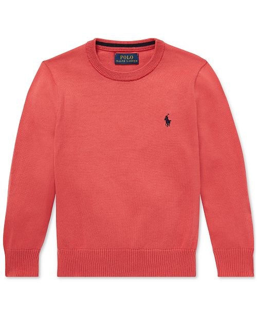 Polo Ralph Lauren Toddler Boys Cotton Crew-Neck Sweater