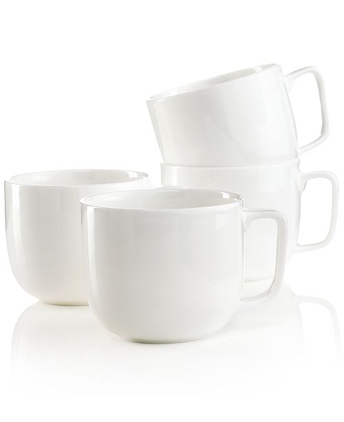 Hotel Collection Dinnerware, Set of 4 Bone China Mugs