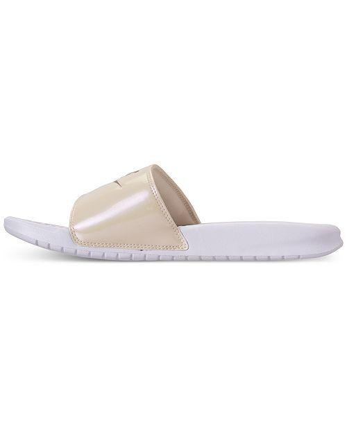 8f64ac8d491c ... Nike Women s Benassi Just Do It Print Slide Sandals from Finish Line ...