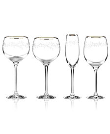 kate spade new york Gardner Street Platinum Signature Stemware Collection