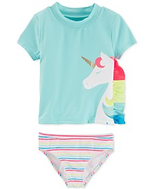 Carter's Toddler Girls 2-Pc. Unicorn Rash Guard Tankini