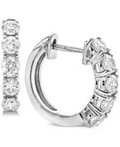 1f71ebe48 Diamond Hoop Earrings (1 ct. t.w.) in 14k White Gold