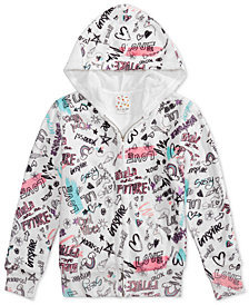 Belle Du Jour Big Girls Graffiti-Print Fleece Hoodie