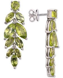 Peridot Vine Drop Earrings (5-3/4 ct. t.w.) in Sterling Silver (Also Available In Garnet, Amethyst, & Blue Topaz)