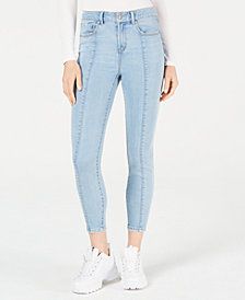 Rewash Juniors' High-Rise Seamed Skinny Jeans