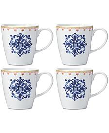Northern Indigo Mugs, Set of 4