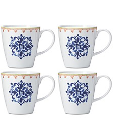 Dansk Northern Indigo Mugs, Set of 4