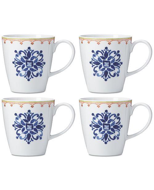 Dansk Northern Indigo Mugs, Set of 4