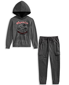 Epic Threads Big Boys Moto Hoodie & Jogger
