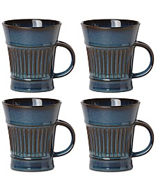 Dansk Flamestone Denim Mugs, Set of 4