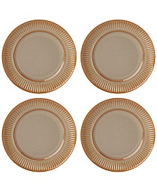 Dansk Flamestone Caramel Dinner Plates, Set of 4