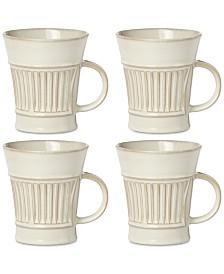 Dansk Flamestone Ivory Mugs, Set of 4