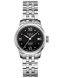 Tissot Women's Swiss Automatic T-Classic Le Locle Stainless Steel Bracelet Watch 25.3mm